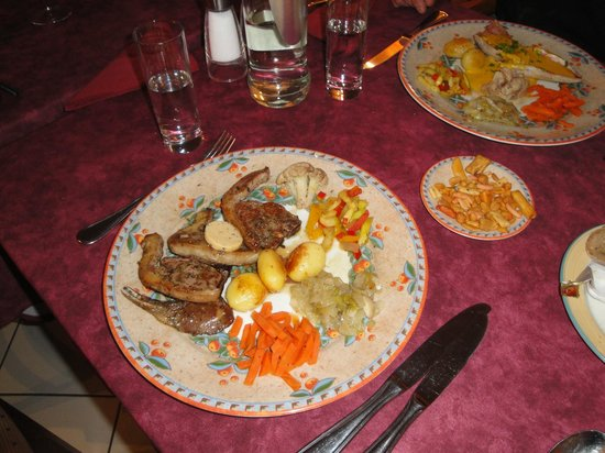 Hotel Melba : cotes d'agneau