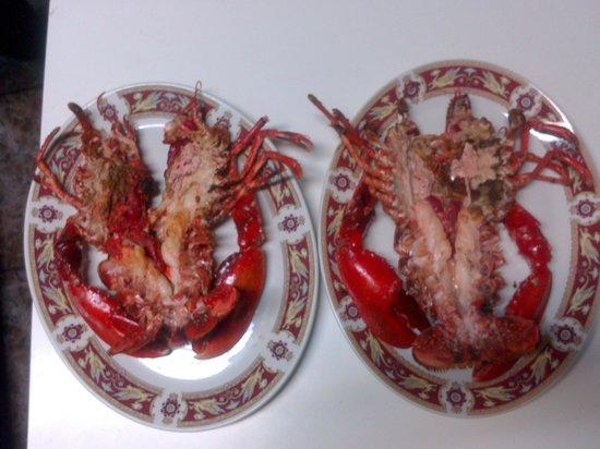 Restaurante Casa Teran:                   BOGAVANTE PLANCHA