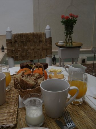 Riad les Orangers d'Alilia Marrakech: Breakfast.