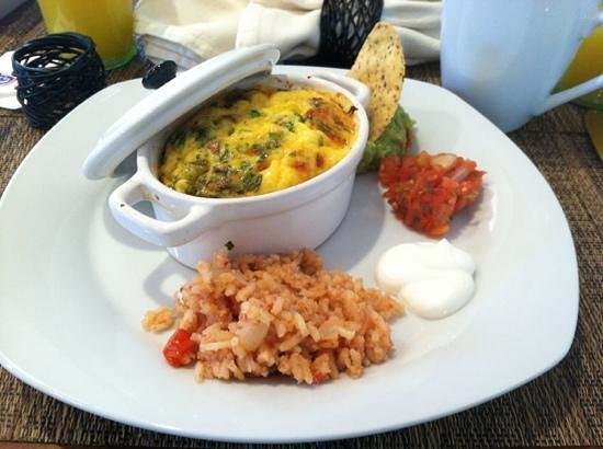 Inn on Randolph:                   homemade Mexican scramble in the morning prepared by the inn keeper!