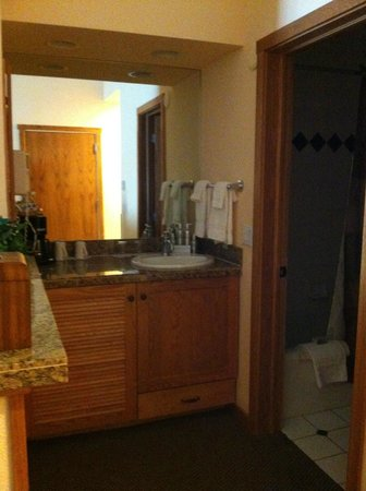 Stonebridge Inn, A Destination Hotel: Bathroom area in room #722.