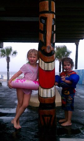 Sunrise Inn Daytona:                   Journey and Jaxon in the parking lot...pool & beach rear
