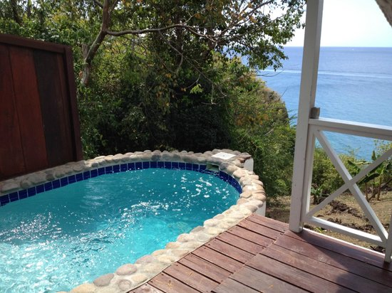 Ti Kaye Resort & Spa:                   Our plunge pool