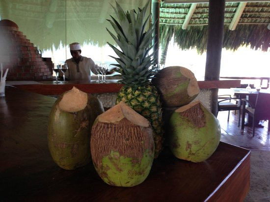 Zoetry Agua Punta Cana:                   always fresh coconuts and pineapples at the bar for drinks