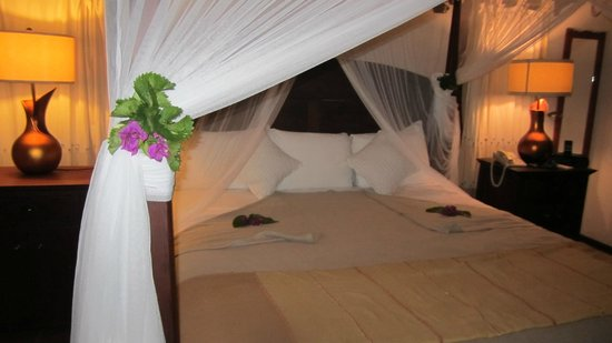 Ti Kaye Resort & Spa:                   Our bed upon arrival