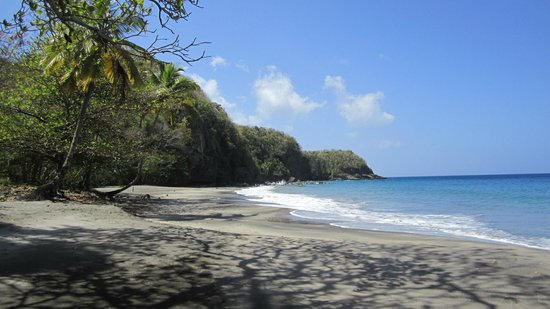 Ti Kaye Resort & Spa:                   The deserted beach from our kayaking trip