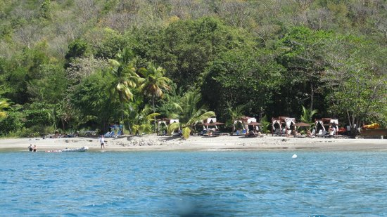 Ti Kaye Resort & Spa:                   The beach from a kayak