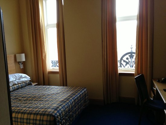 Highland Hotel:                   looking out of bedroom