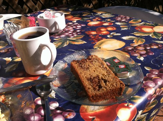 The Garden Cafe:                   Coconut cinnamon bread