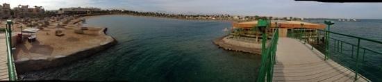 Desert Rose Resort:                   море со спины, вид на лагуну