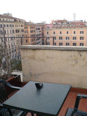 Hotel Impero:                   rooftop balcony