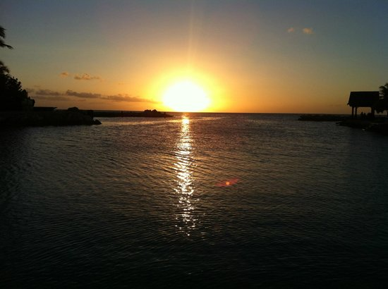 Lions Dive & Beach Resort Curacao: Watching the sunset at Hemingways