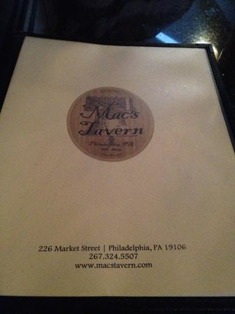 Mac's Tavern: There is a large, eclectic menu of food available. The Philly cheese rolls are delicious!