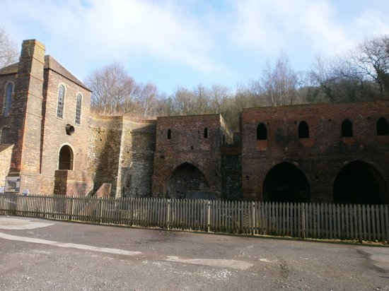 Blists Hill Victorian Town:                   Remnants of the blast furnaces