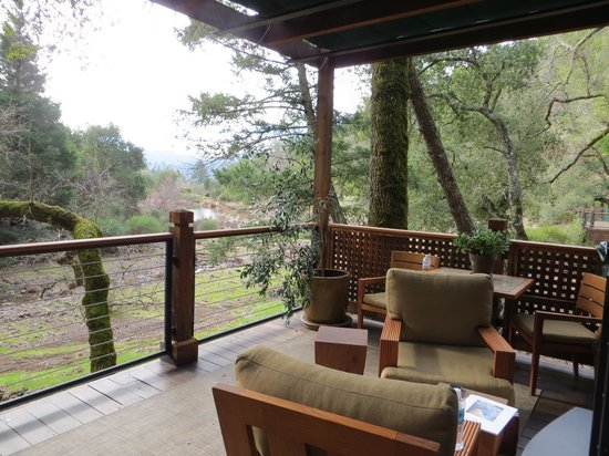 Calistoga Ranch, An Auberge Resort :                   Our deck and view