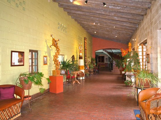 La Posada Hotel:                   Orangerie - now a hallway to west wing.  Citrus was grown indoors here in earl