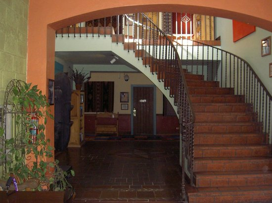La Posada Hotel:                   Stairs to second floor of west wing