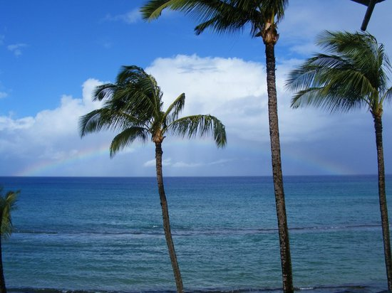 Paki Maui Resort:                   View of the ocean and its many colors from our lanai at Aston Paki Maui
