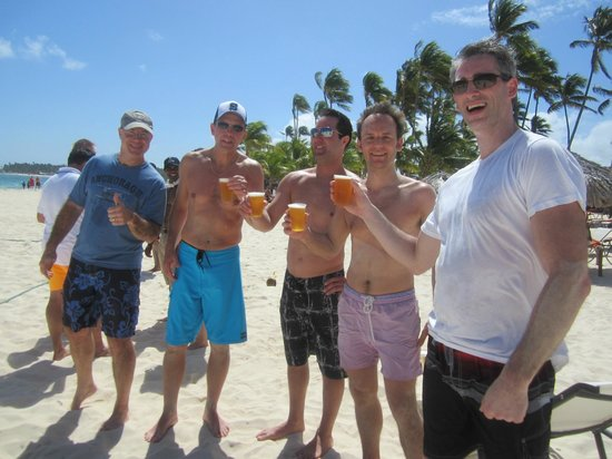 Secrets Royal Beach Punta Cana:                                     beach volleyball winning team - drinks are on us!