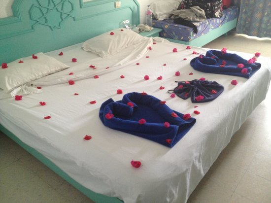 Hotel Green Golf:                   decorated bed by cleaners