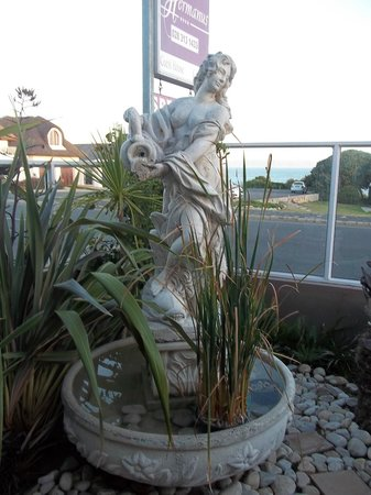 Hermanus Guesthouse:                   Room 2...this lady keeps you company (private garden)