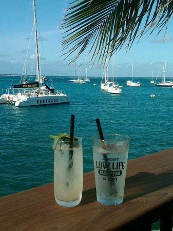 John Eddie's Lowlife Bar & Refuge: Refreshing Beverages on our upper deck