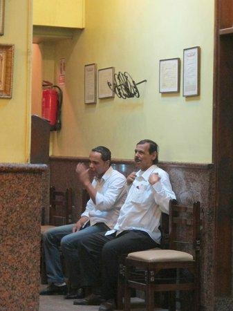 El Masry: Waiters having a break