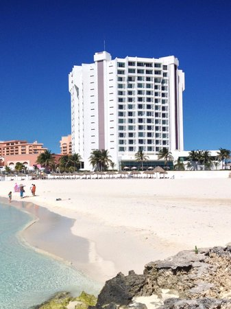 Krystal Grand Punta Cancun:                                     Pic from the beach