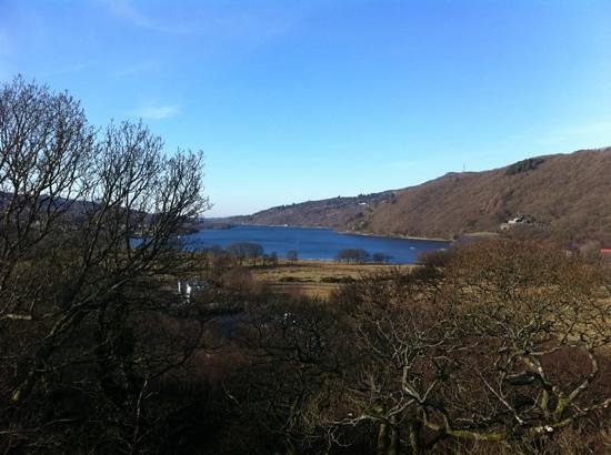 Llyn Padarn:                   View of Padarn Lake from Dolbadarn Castle