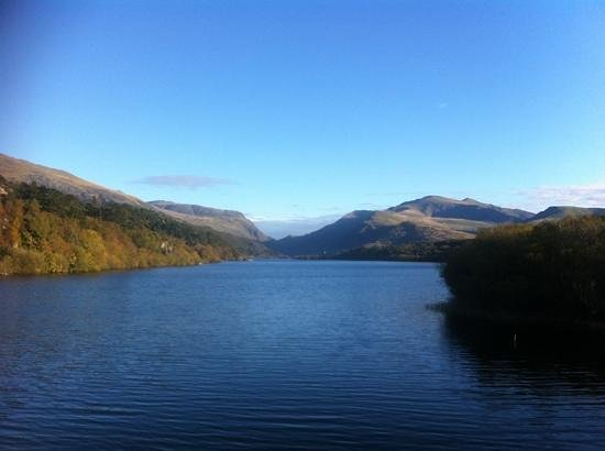 Llyn Padarn:                   Lake Padarn from Pen Llyn end