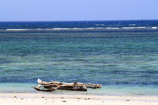 AfroChic Diani:                   View from the beach in front of the hotel
