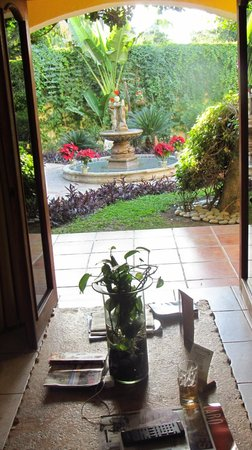 El Encanto Inn & Suites Boutique Hotel:                   looking out from our room