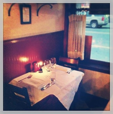 La Fourchette:                   Table for 2 in the window
