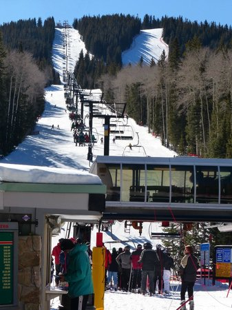 Ski Santa Fe: At base area, bottom of the Santa Fe Super Chief