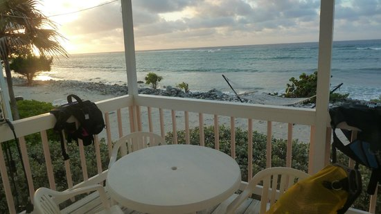 Paradise Villas:                   Sunrise from our porch