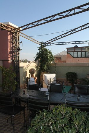 L'Heure d'Ete:                                     The terrace
