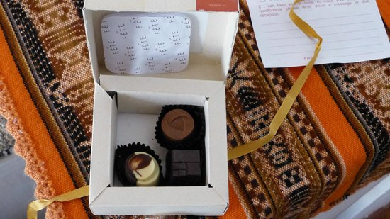 Lodge Andino Terrantai:                   Complimentary chocolates - Terrantai