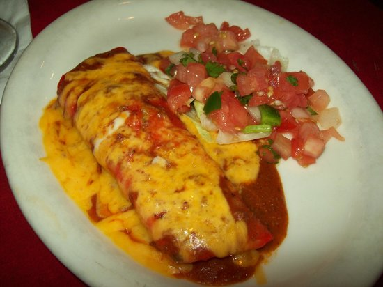 Morelia Grill: ground beef enchilada......very delectable