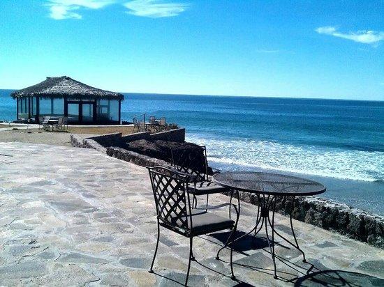 Castillos del Mar: Jardin y Terraza central, ideal para disfrutar de la excelente vista