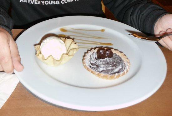 The Hare and Hounds:                   Rich chocolate tart & vanilla ice cream