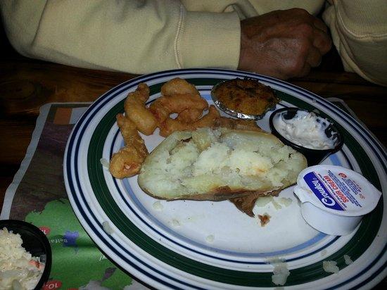 Potters Pub:                   fried shrimp