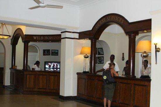 The Victoria Falls Hotel: The Lobby Area