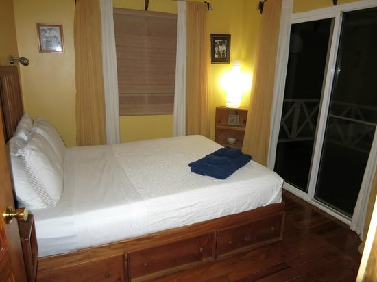Hermosa Surf Vacations:                   Room #1-double/queen bed (can't remember what's the exact size)
