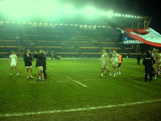 Welford Road Stadium: The Catapillar stand