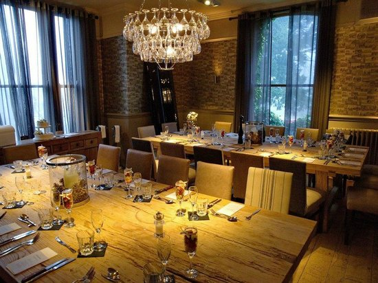 Innkeeper's Lodge Alderley Edge:                   The room where we had our wedding reception, and later we used this as our chi
