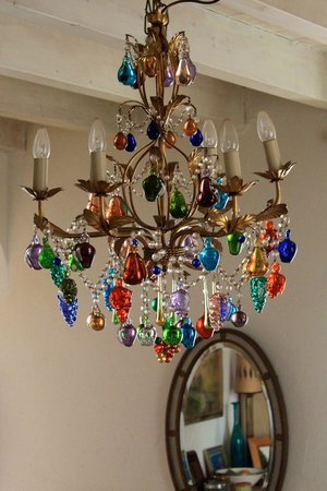 casa rosada:                   The chandelier in the dining room