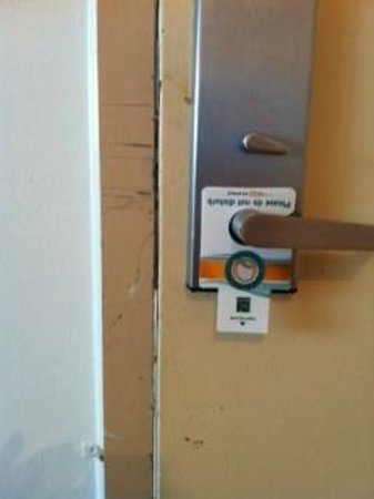 Quality Inn & Suites:                   Dirty and the only lock to secure this room