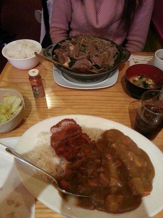 Tokyo Grill:                   Chicken Katsu & Beef Sukyaki