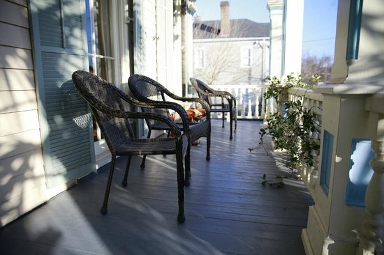 Catherine Ward House Inn:                   Front porch
