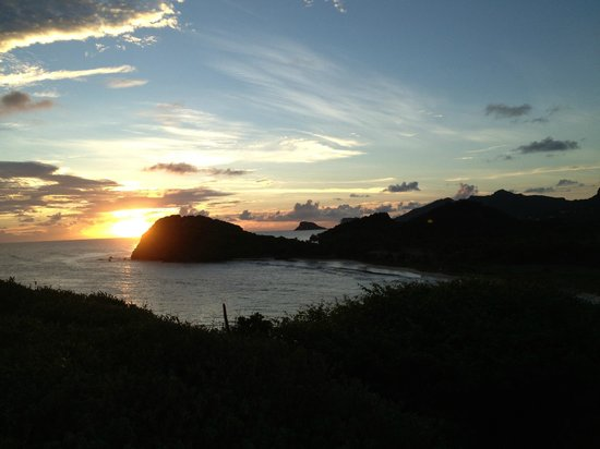 Palm Island Resort & Spa:                                     Palm Island sunset- view from one of the hiking trails